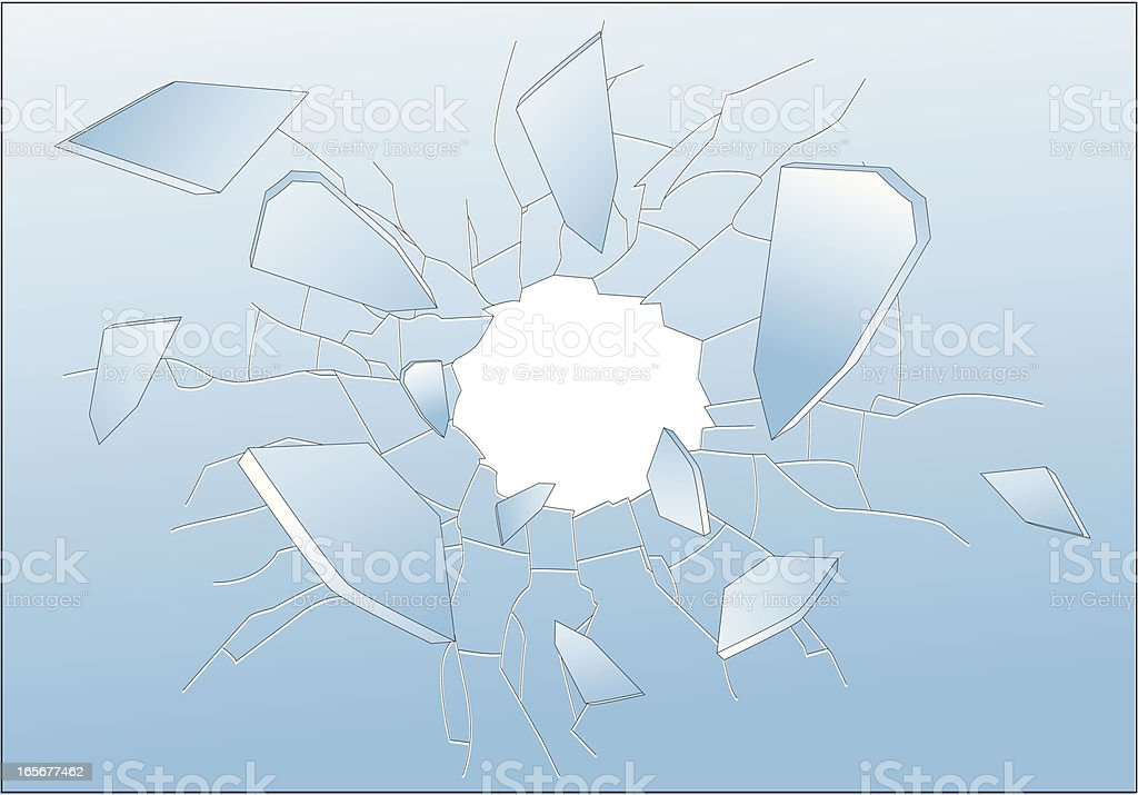 Broken Glass vector art illustration