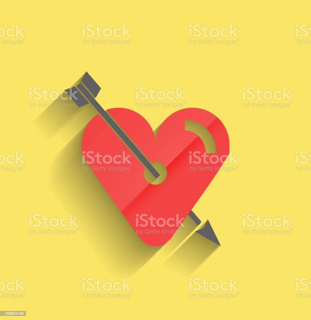 Broken heart / in love flat background royalty-free stock vector art