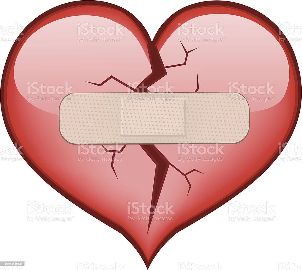 Broken Heart royalty-free stock vector art
