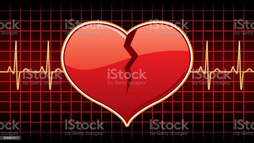 Broken Heart vector art illustration