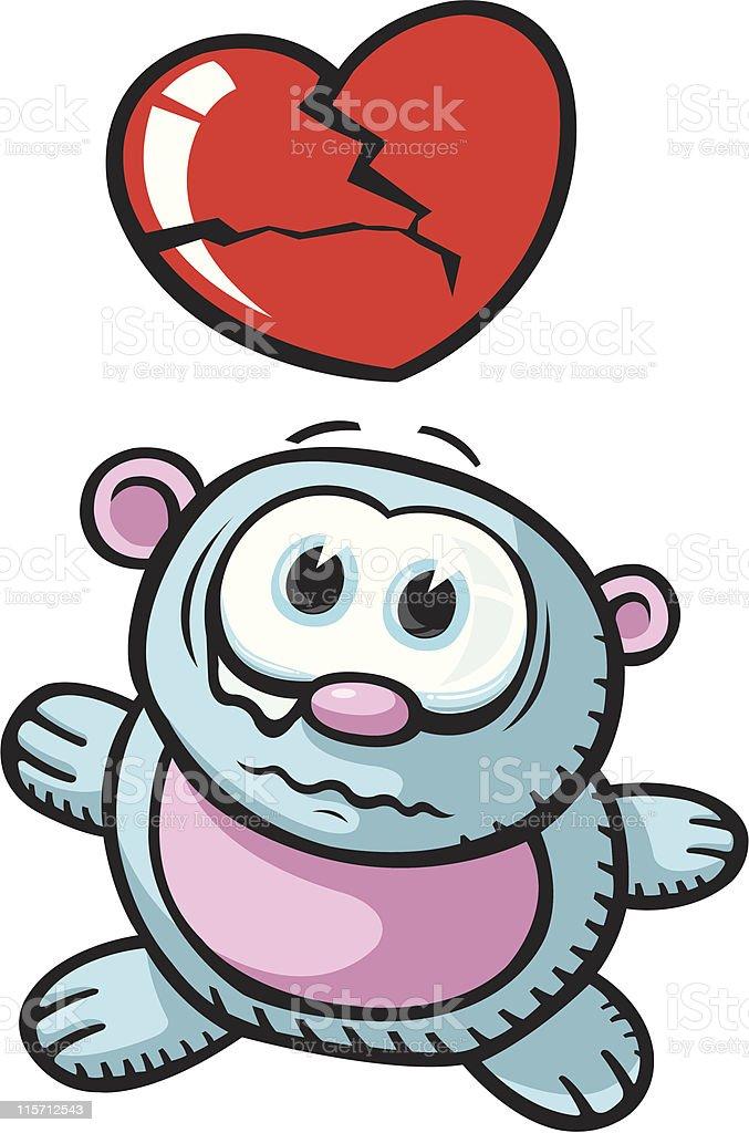 Broken hearted Bear royalty-free stock vector art