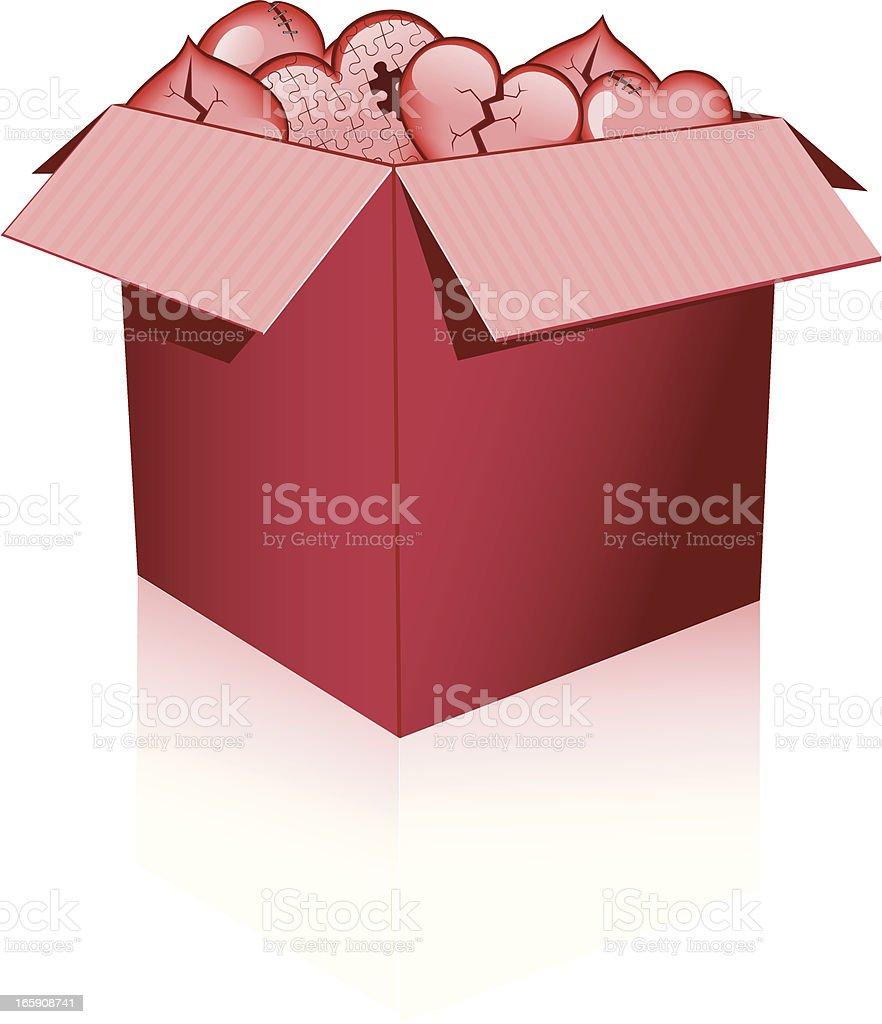 Broken Hearts Box royalty-free stock vector art