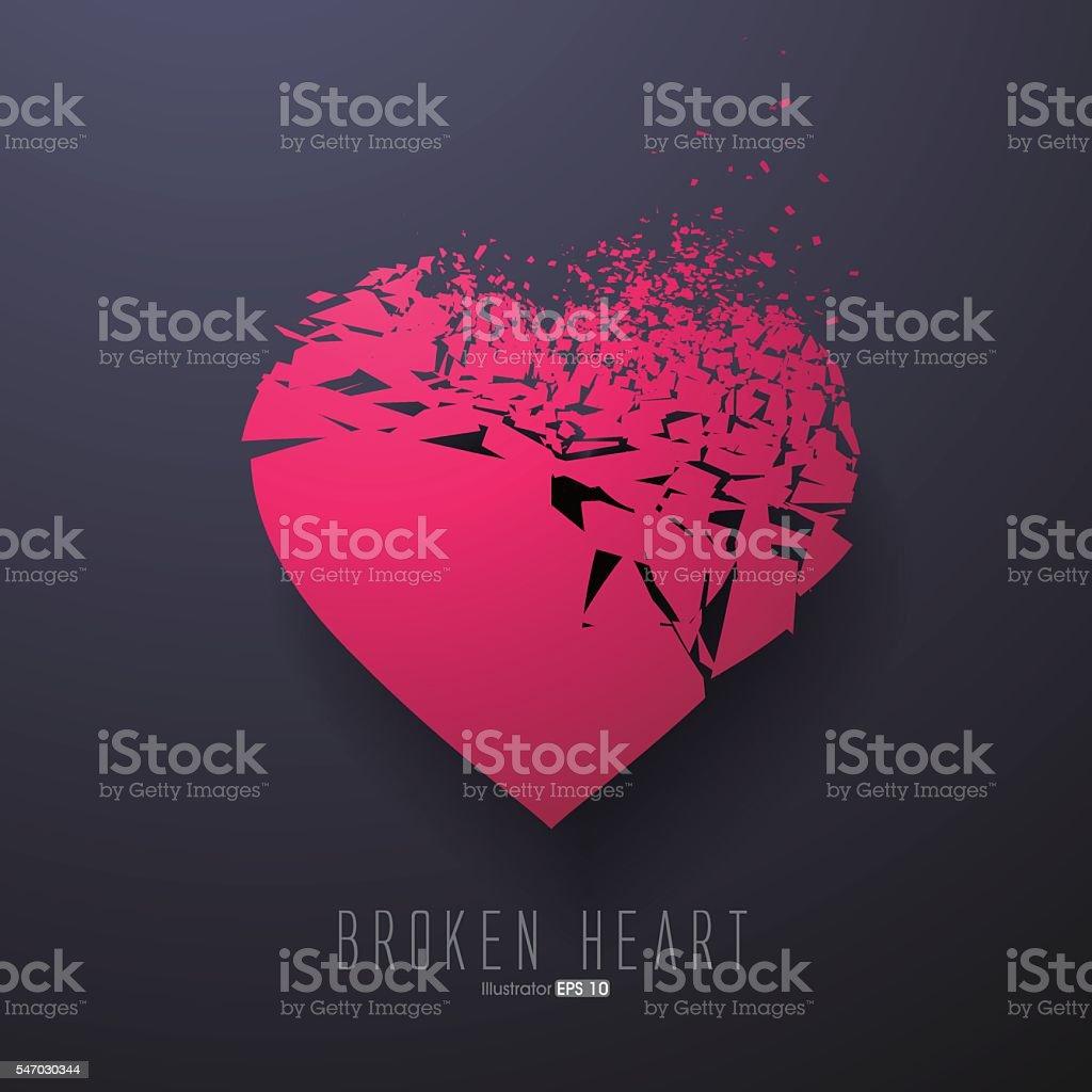 Broken Heart,Vector Graphics vector art illustration