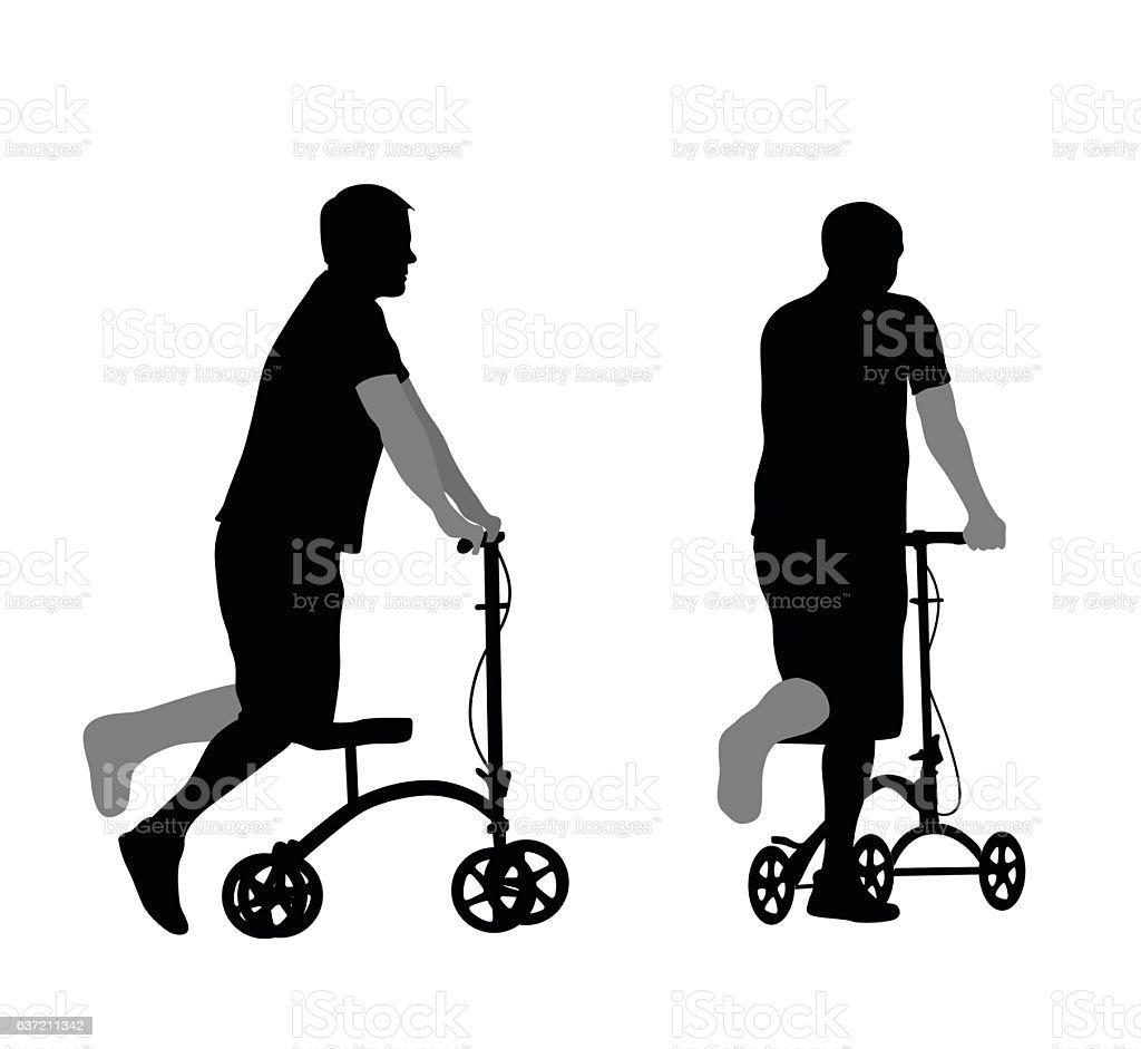 Broken Limb vector art illustration