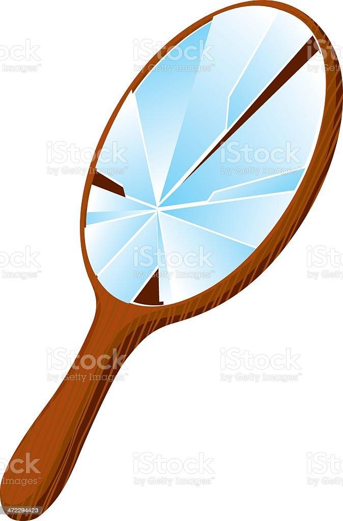 broken mirror vector art illustration
