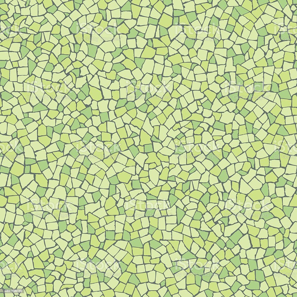 Broken tiles green pattern vector art illustration