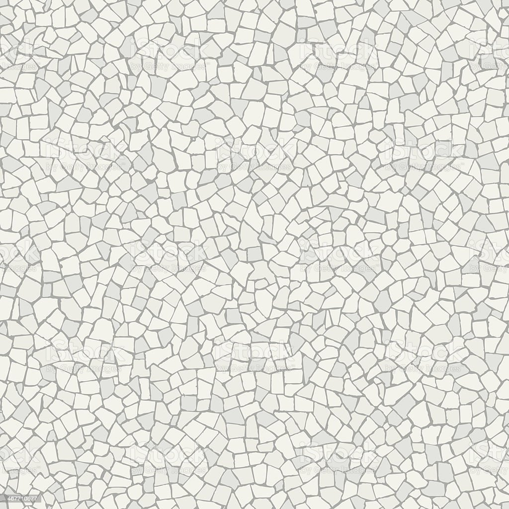 Broken tiles white pattern vector art illustration