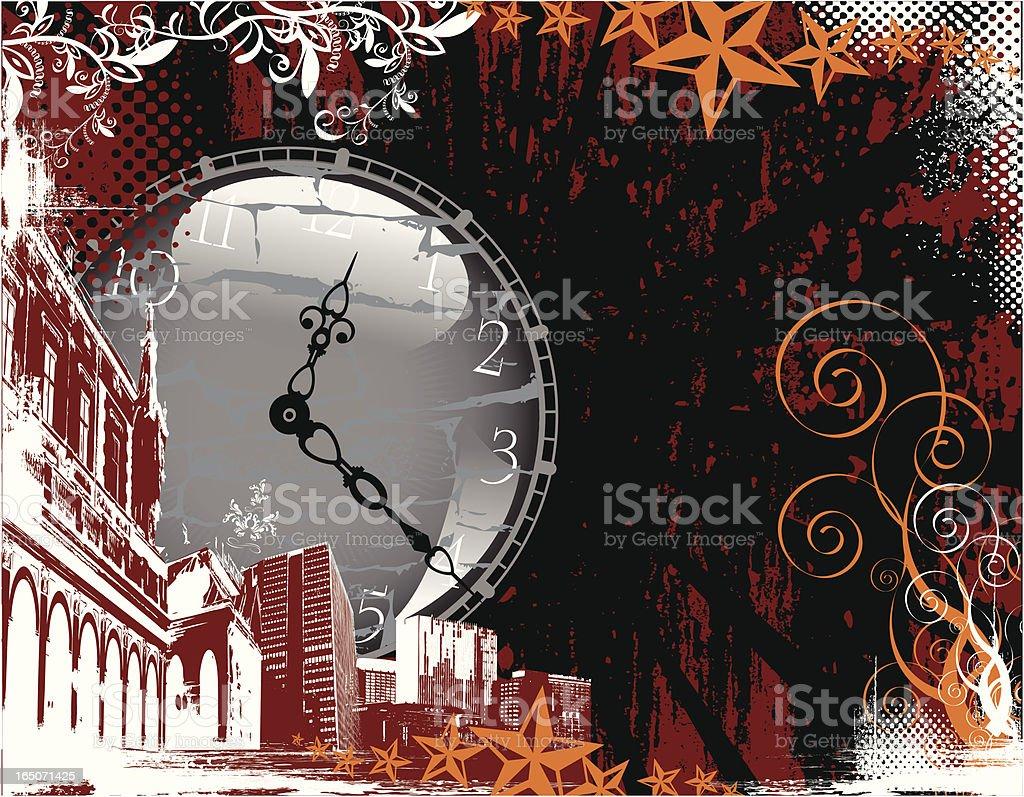 Broken Time royalty-free stock vector art