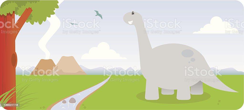 Brontosaurus! royalty-free stock vector art