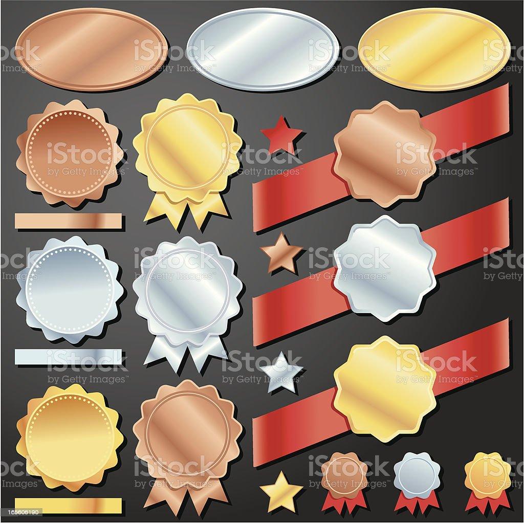 Bronze Silver Gold royalty-free stock vector art