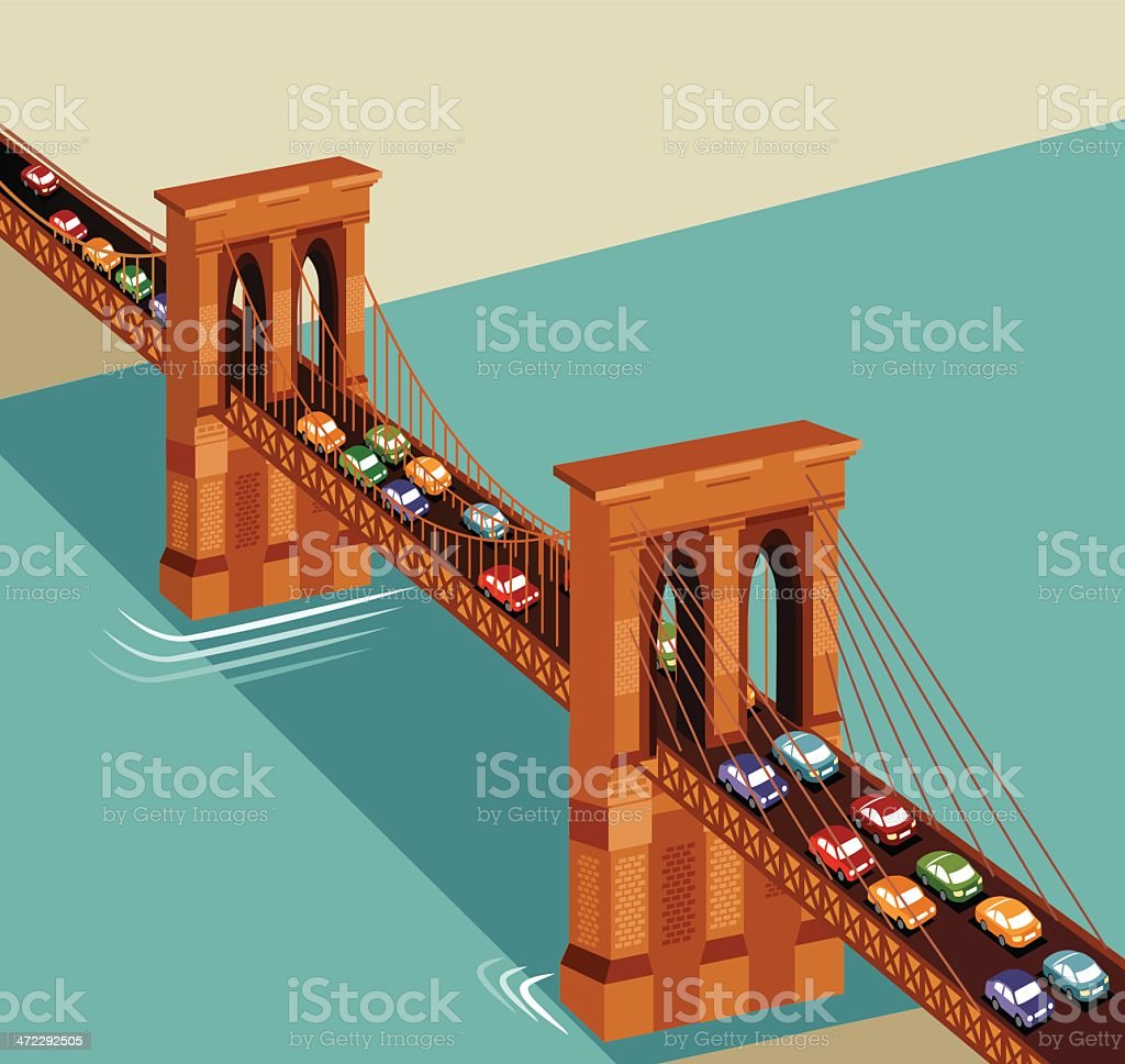 Brooklyn Bridge royalty-free stock vector art