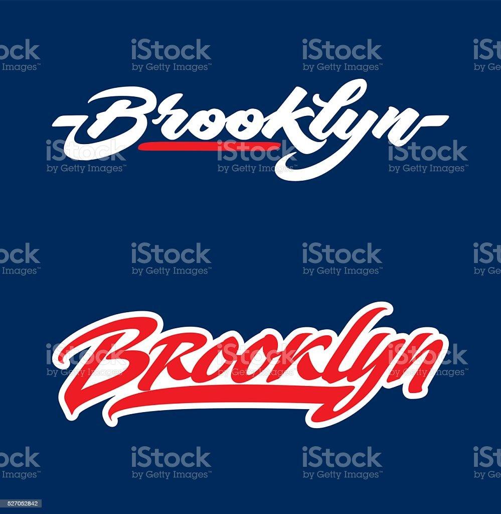 Brooklyn lettering vector art illustration