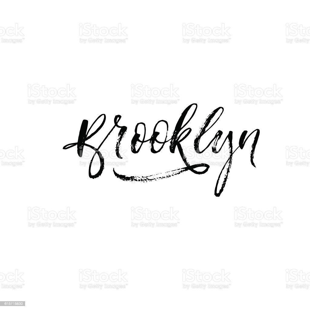 Brooklyn vector phrase. vector art illustration