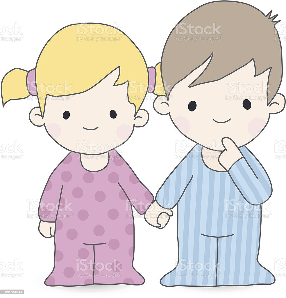 brother and sister royalty-free stock vector art