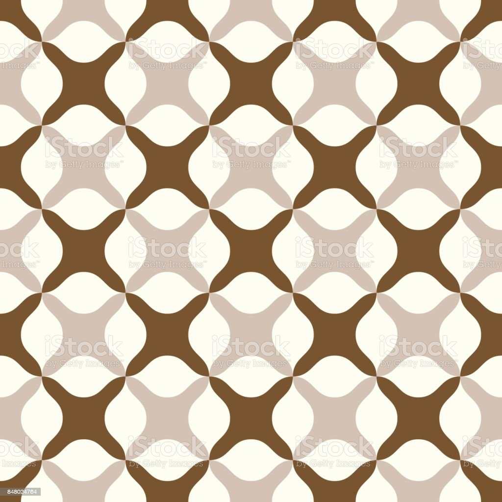 Brown Abstract Cross Pattern on Pastel Color vector art illustration
