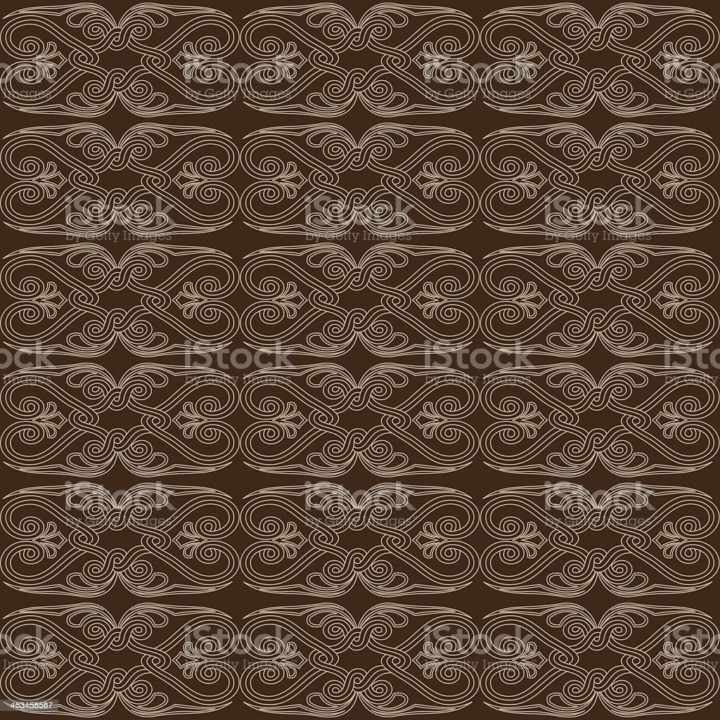 Brown Abstract Seamless Pattern royalty-free stock vector art