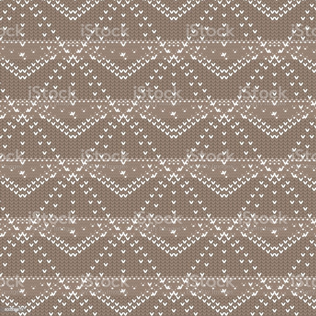 brown and white polygon and diamond shape dot line with line inside knitting pattern background vector art illustration