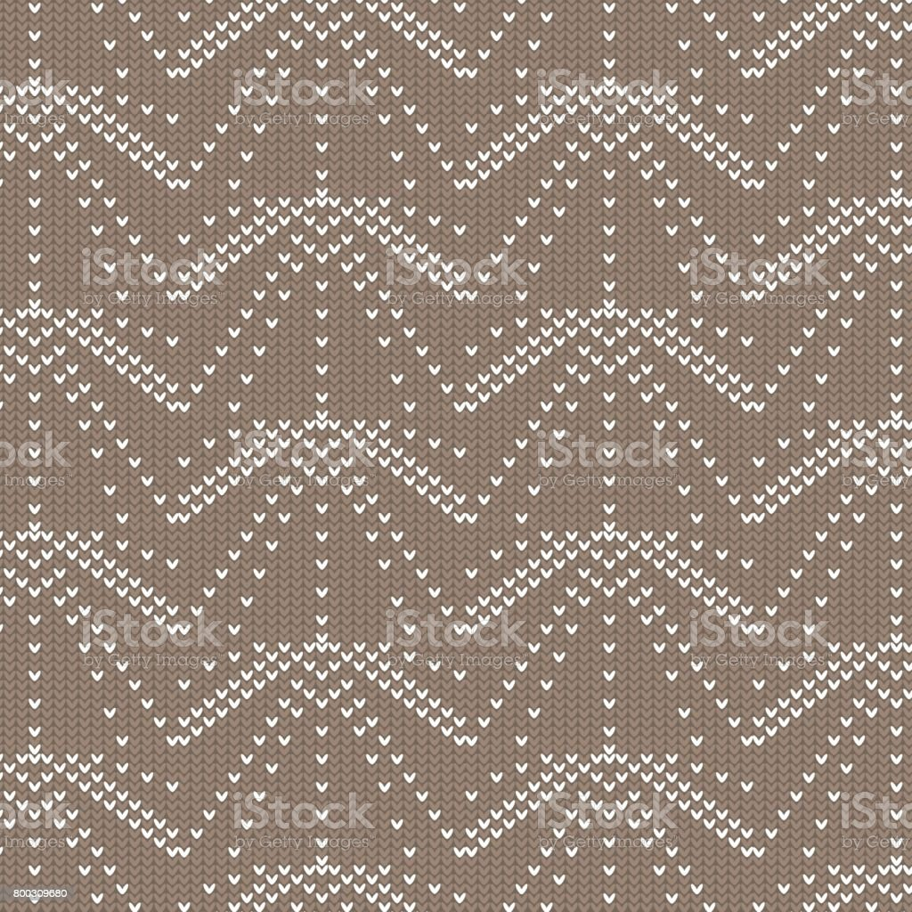 brown and white ray dot line knitting pattern background vector art illustration