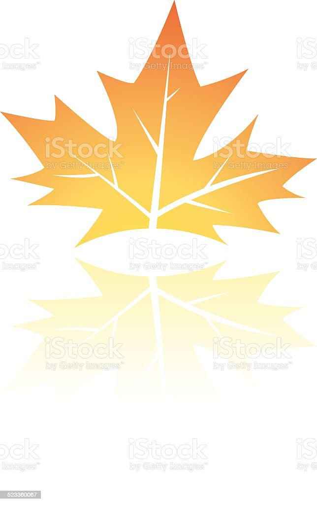 Feuille d'automne brun stock vecteur libres de droits libre de droits