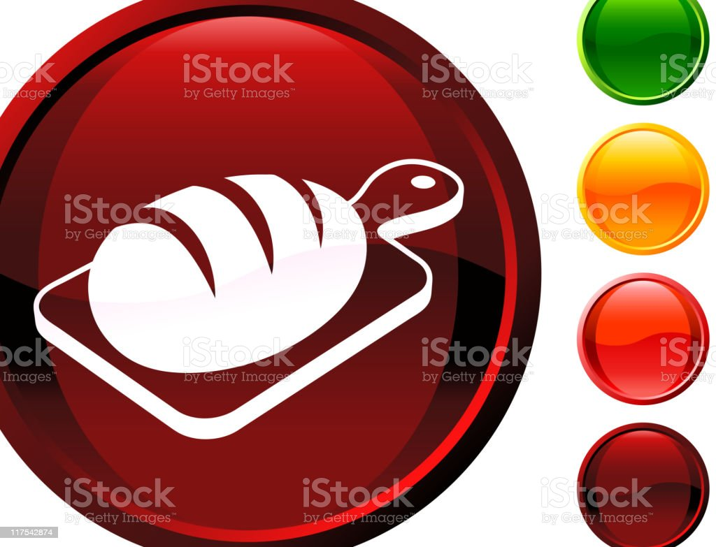 brown baked bread glossy icon royalty-free stock vector art