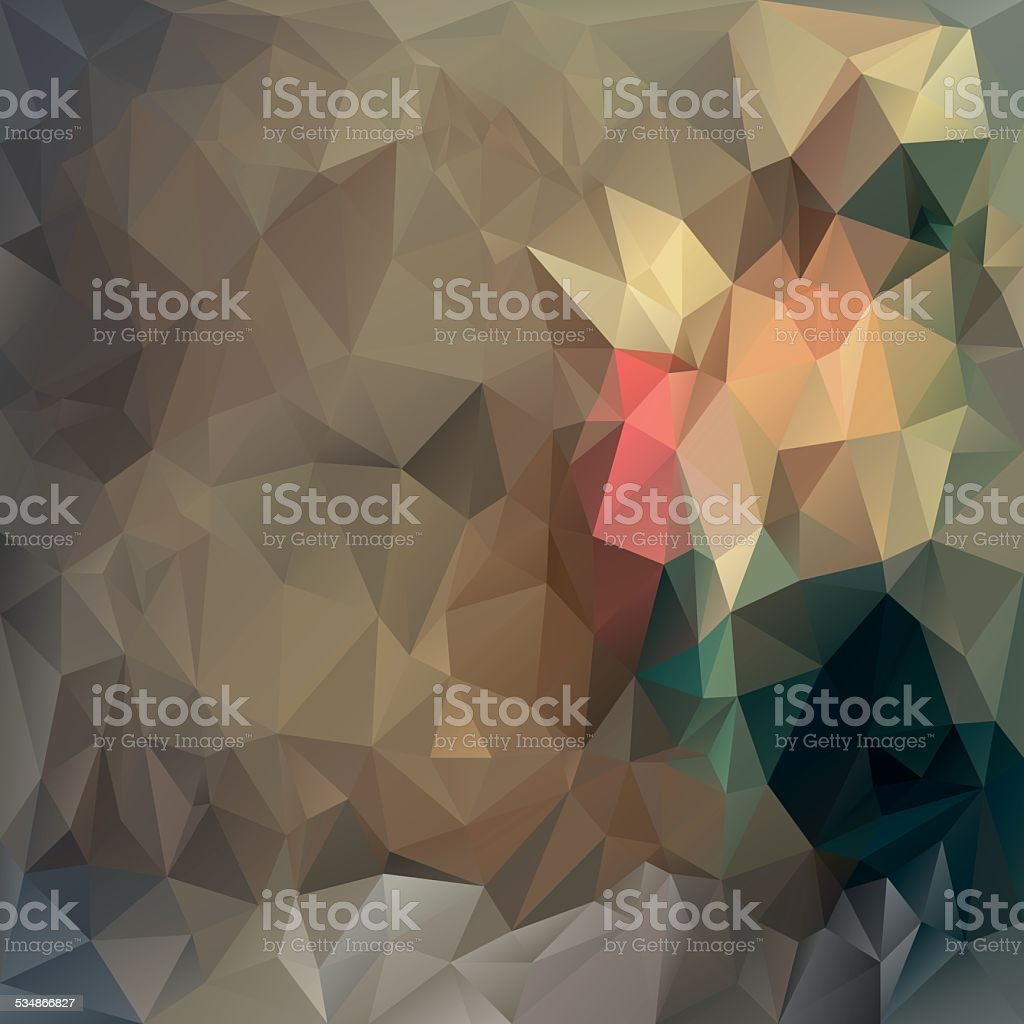 brown beige polygonal triangular pattern background vector art illustration