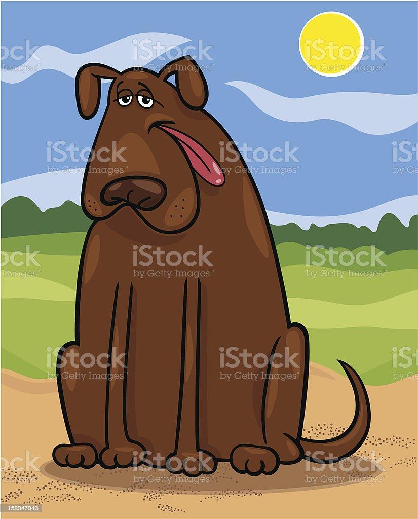 brown big dog cartoon illustration royalty-free stock vector art