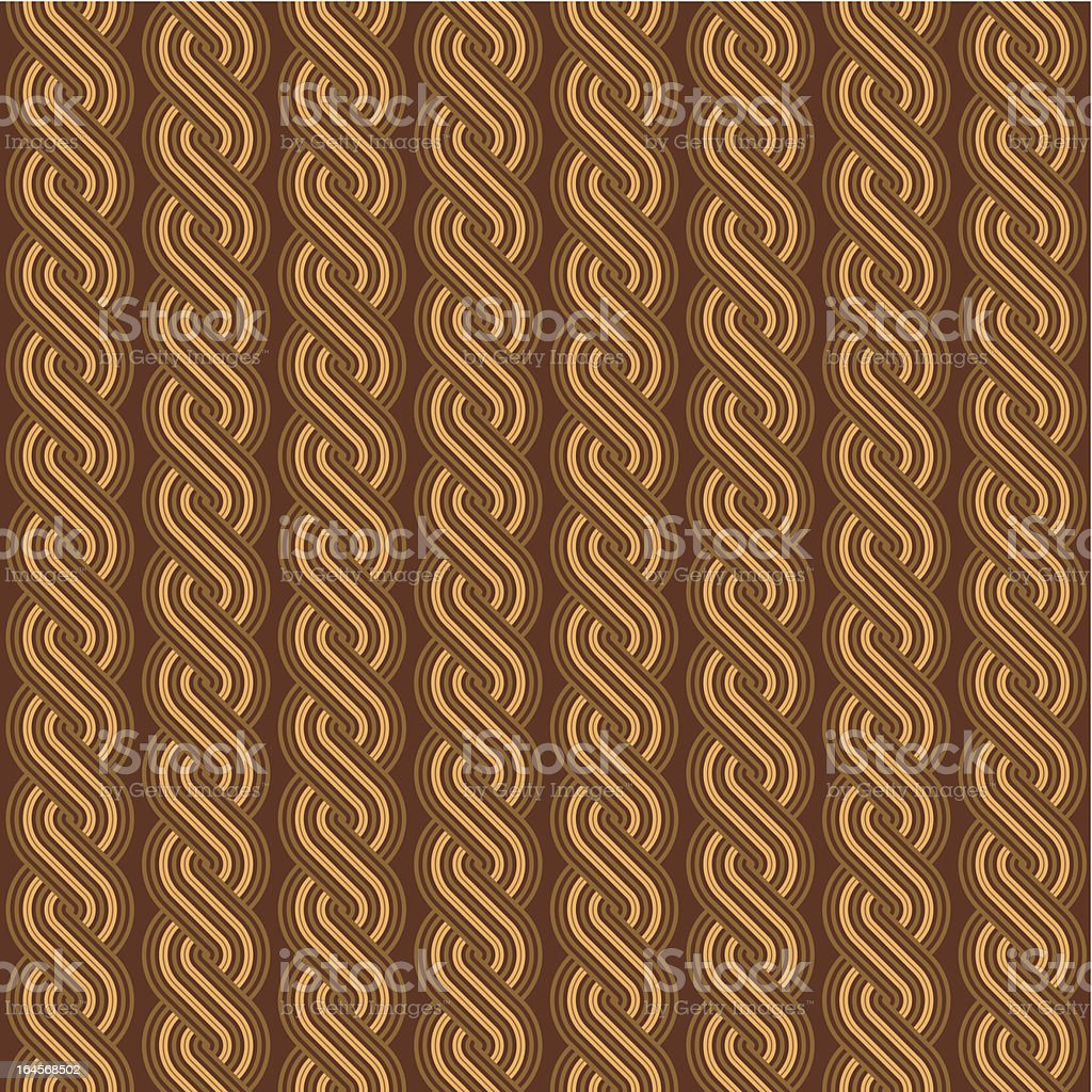 Brown braids background, seamless pattern included royalty-free stock vector art