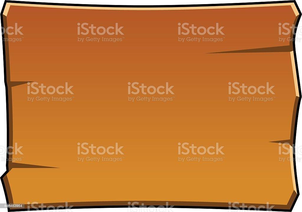 brown cartoon wood board vector art illustration
