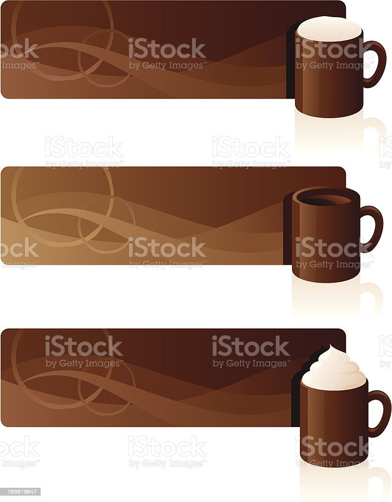 Brown Coffee Banners vector art illustration