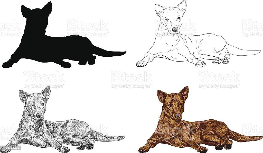 Brown dog royalty-free stock vector art