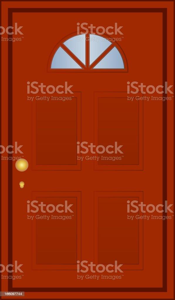brown door royalty-free stock vector art