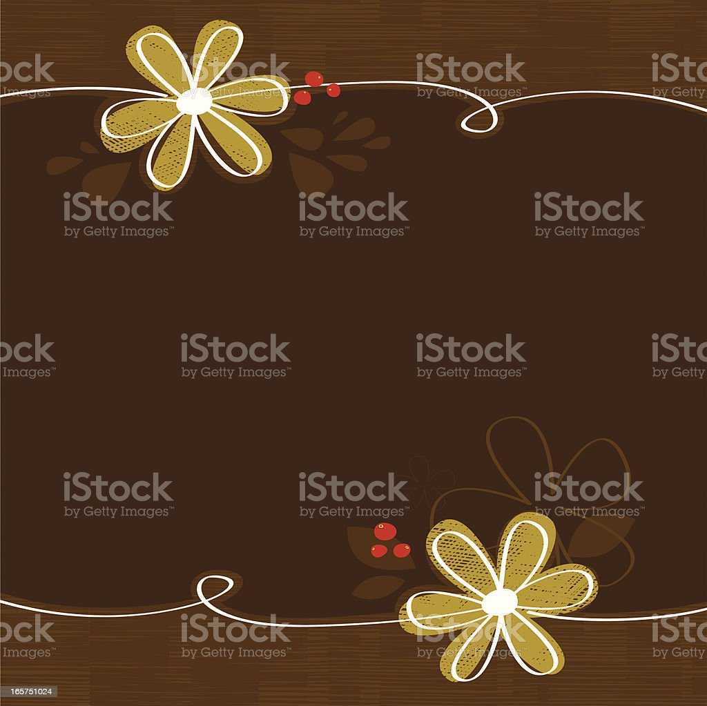 Brown floral background royalty-free stock vector art