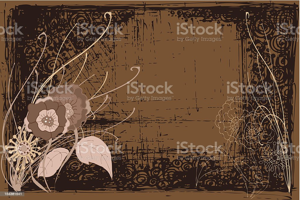 brown flowers background royalty-free stock vector art