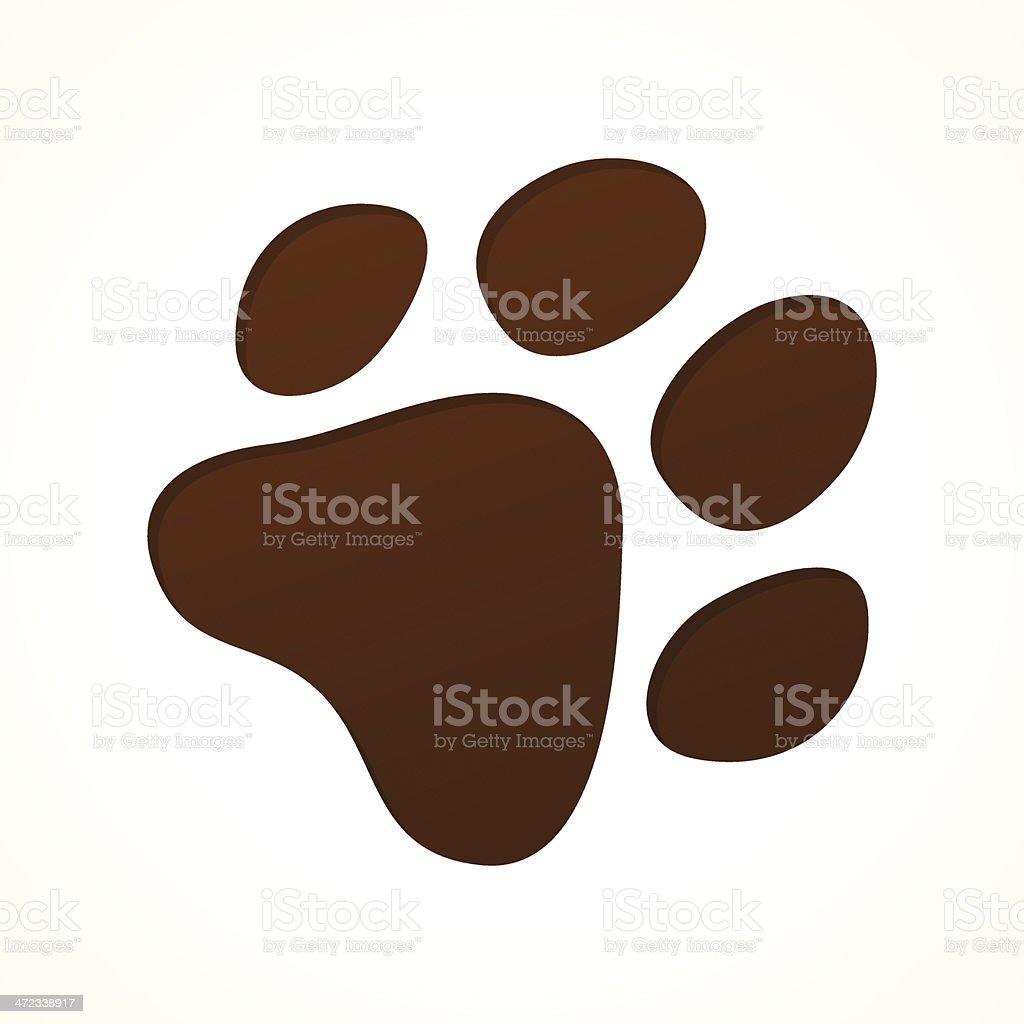 Brown Footprint vector art illustration