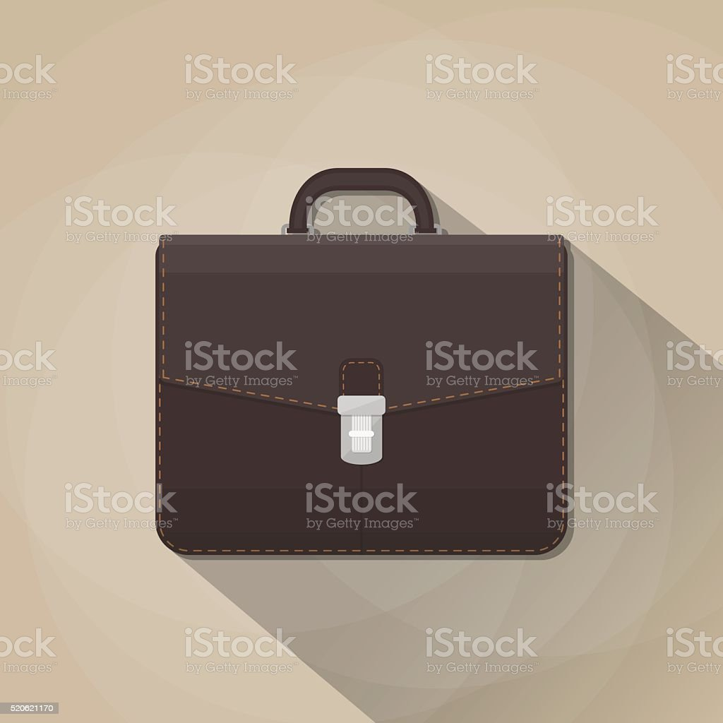 brown leather business vector art illustration