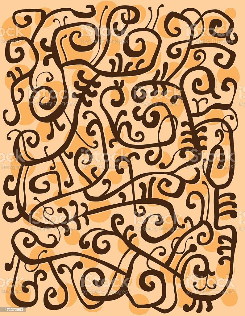 Brown on Orange royalty-free stock vector art