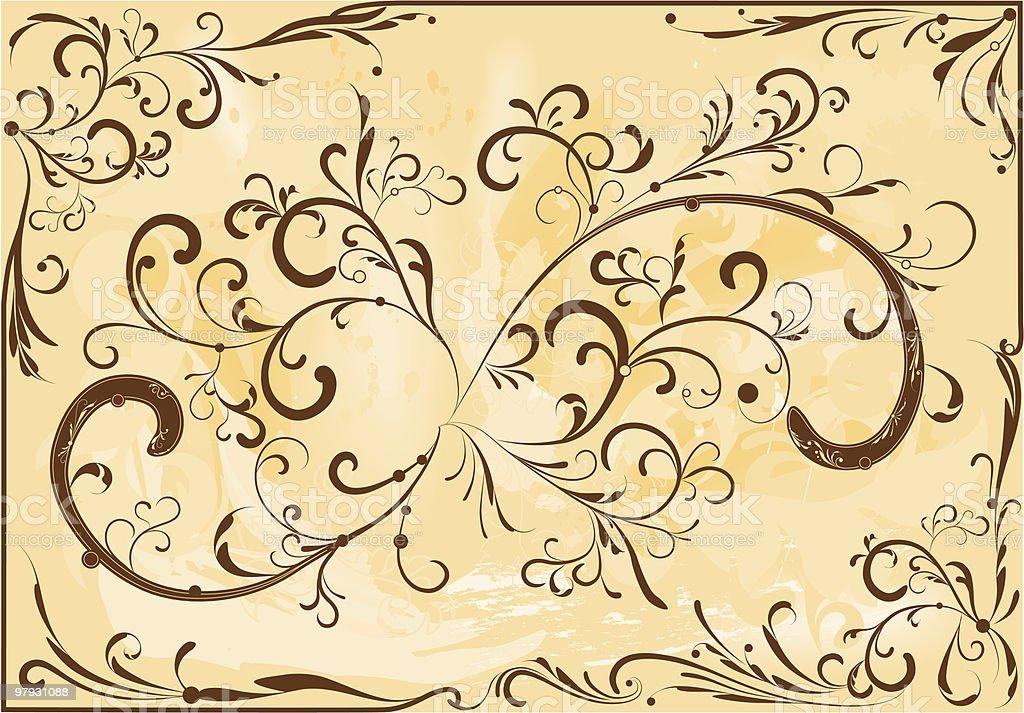 Brown ornament royalty-free stock vector art