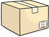 brown paper box cartoon