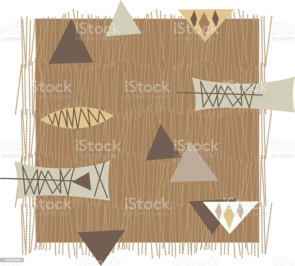 Brown Retro Pattern + Triangles royalty-free stock vector art