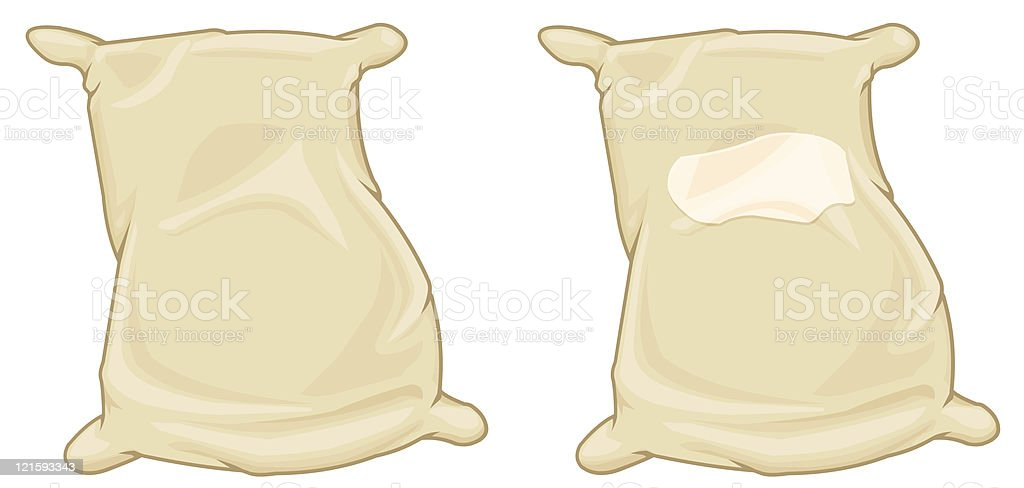Brown Sack vector art illustration