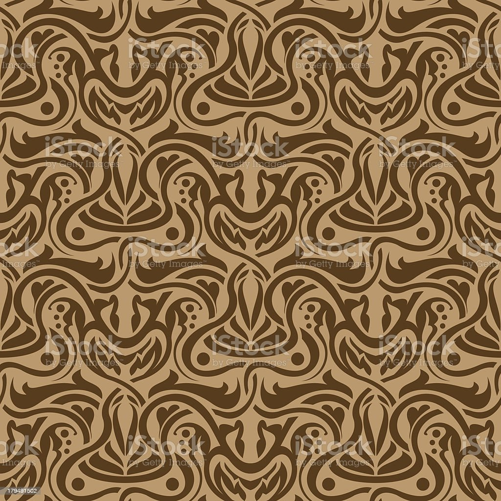 Brown seamless ornament royalty-free stock vector art