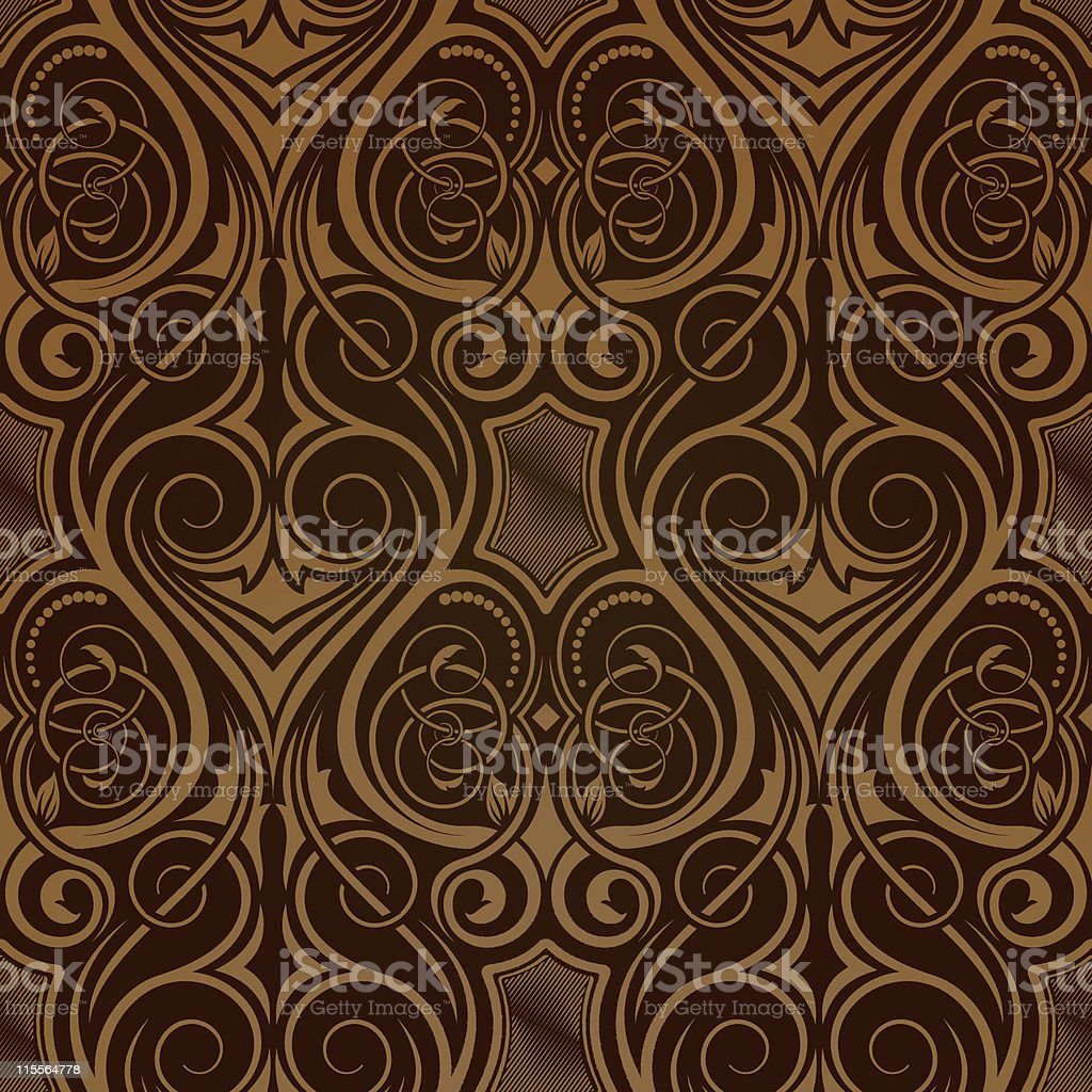 Brown seamless wallpaper royalty-free stock vector art