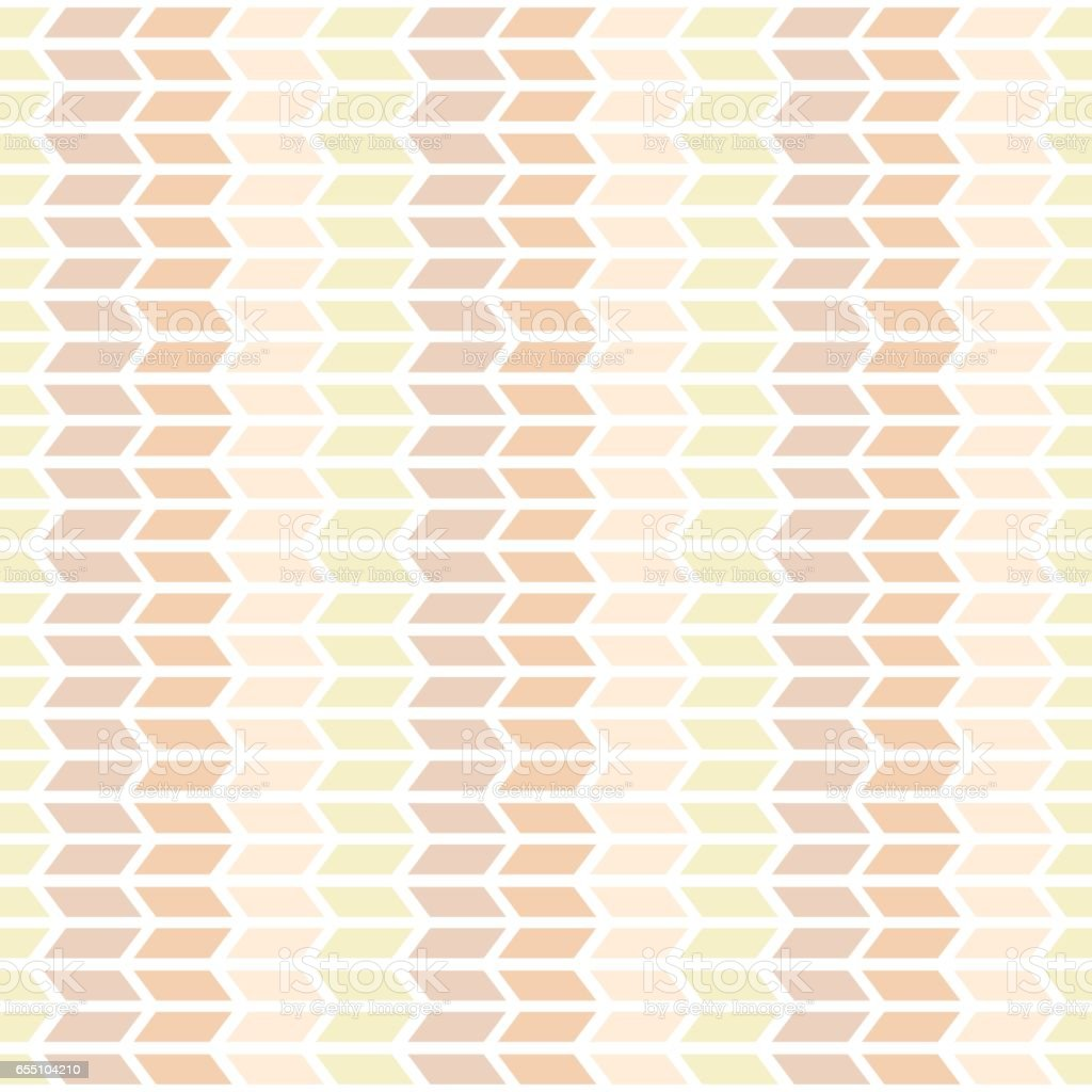 Brown shades seamless pattern with decorative geometric and abstract elements. vector art illustration