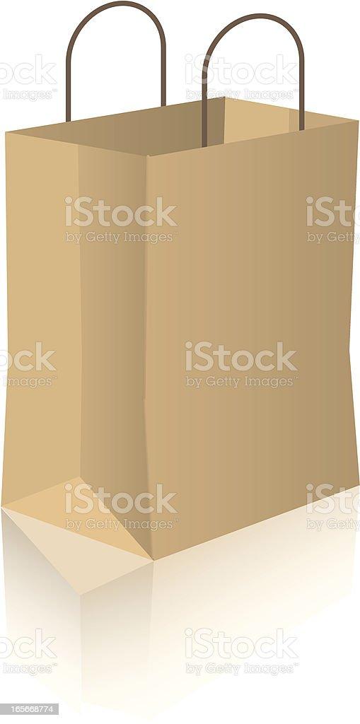 Brown Shopping Bag royalty-free stock vector art