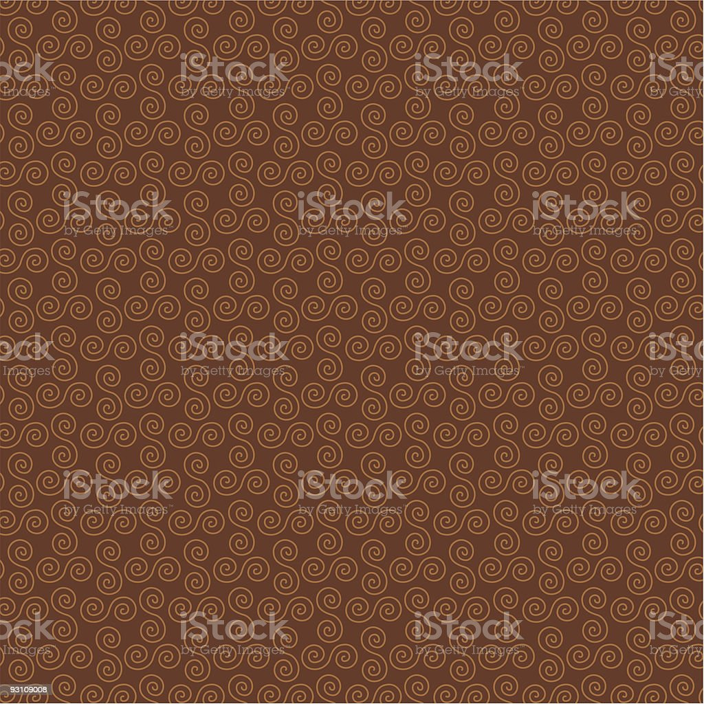brown swirl background pattern vector art illustration