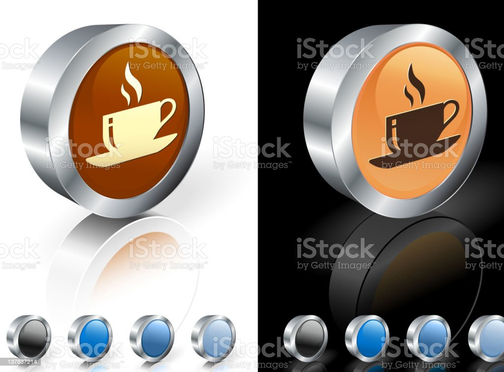 brown tan and black colored icons of coffee royalty-free stock photo