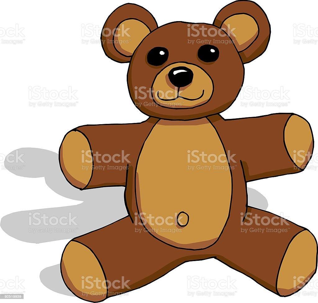 Brown Teddy Bear royalty-free stock vector art