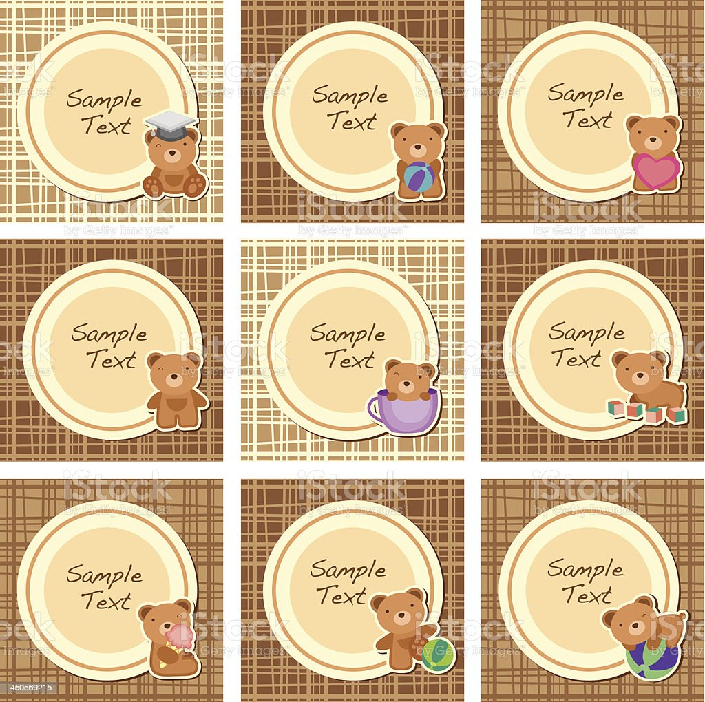 brown teddy layout B royalty-free stock vector art