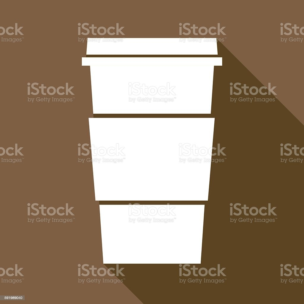 Brown Travel Coffee Cup Icon vector art illustration