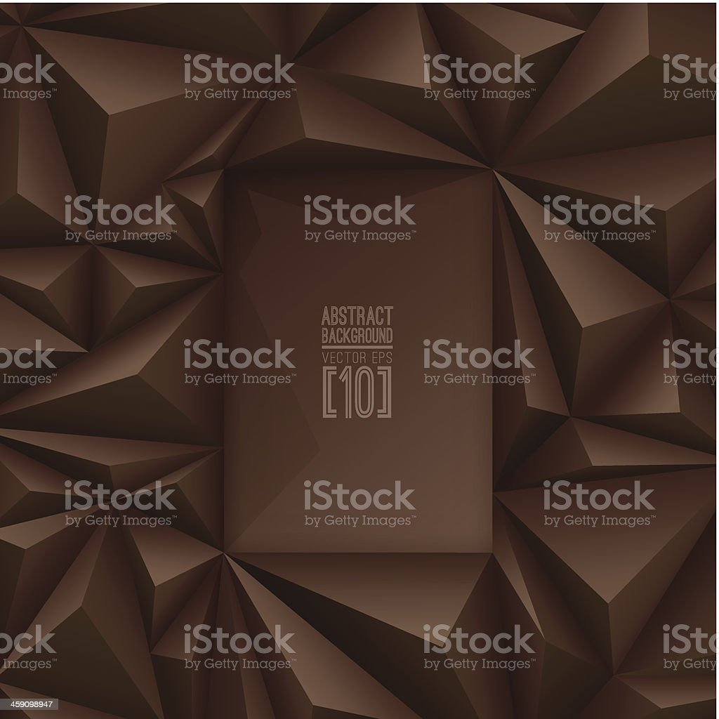 Brown vector geometric background. vector art illustration